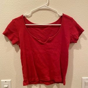 red brandy melville shirt